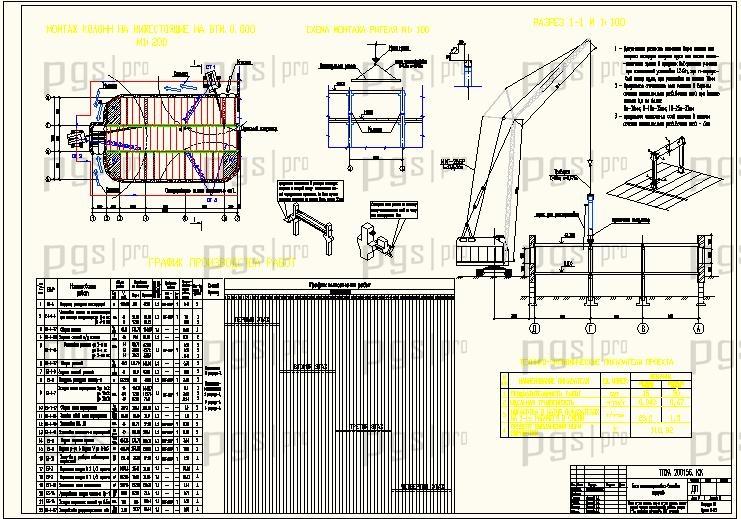 Схема монтажа подземной части