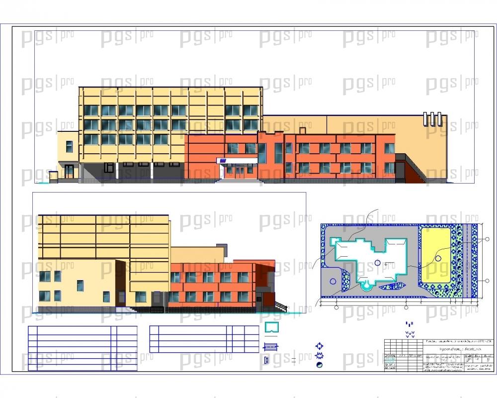 Скачать бесплатно дипломный проект ПГС Диплом №  1 Фасад 1 16 Фасад М А генеральный план jpg