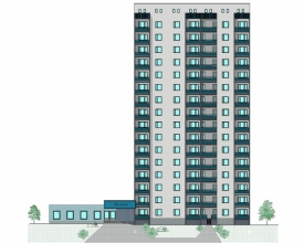 Скачать бесплатно дипломный проект ПГС Диплом № этажный  Диплом №2033 16 этажный жилой дом с пристроенным магазином в г Рязань