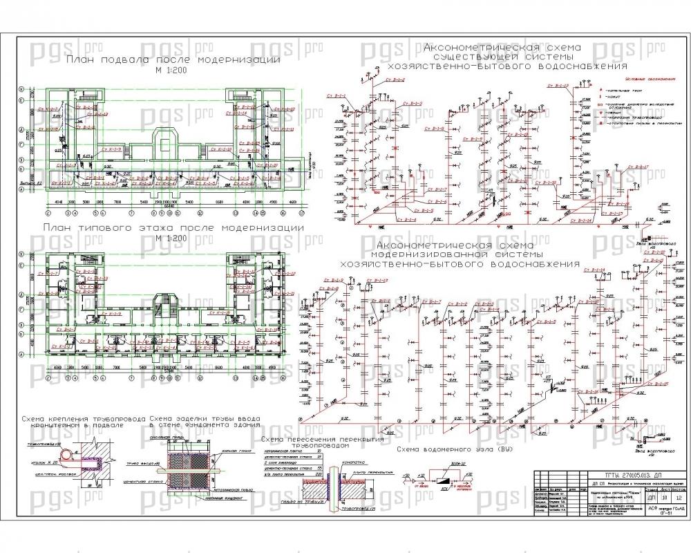 Типовая схема водоснабжения многоквартирного дома