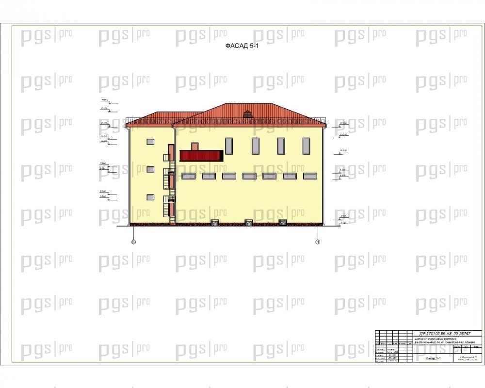 Скачать бесплатно дипломный проект ПГС Диплом № Детский  2 Фасад jpg