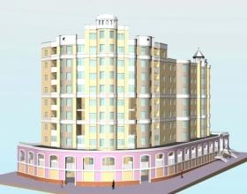 Скачать бесплатно дипломный проект ПГС Диплом № Многоэтажный  Диплом №2037 Многоэтажный жилой дом переменной этажности с офисами в г Калуга