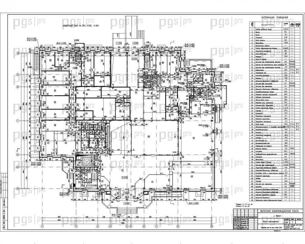 Скачать бесплатно дипломный проект ПГС Диплом № Музей  2 ПЛАН НА ОТМ 0 000 0 450 jpg