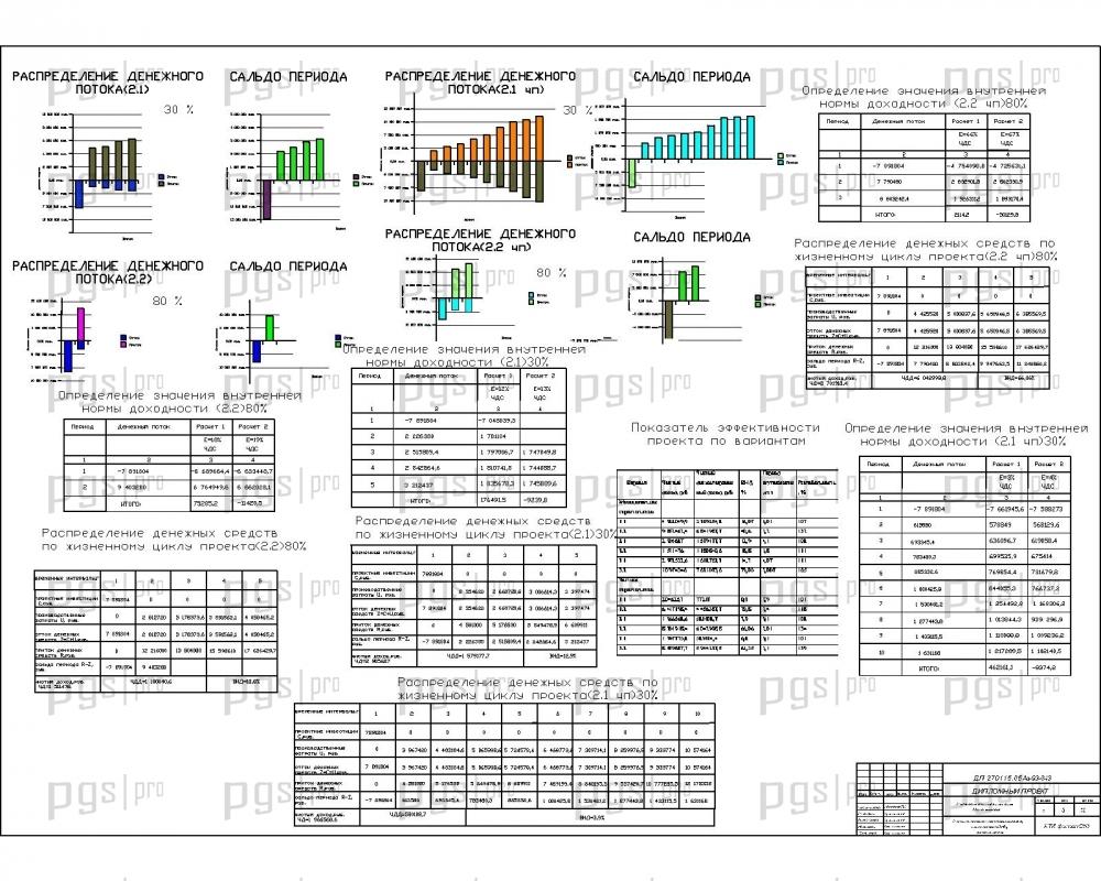Скачать бесплатно дипломный проект ПГС Диплом № Развитие  Распределение денежных потоков определение ВНД гистограммы jpg