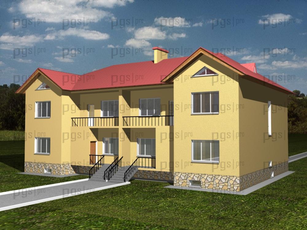 Скачать бесплатно дипломный проект ПГС Диплом № Разработка и  3d модель здания 1 jpg