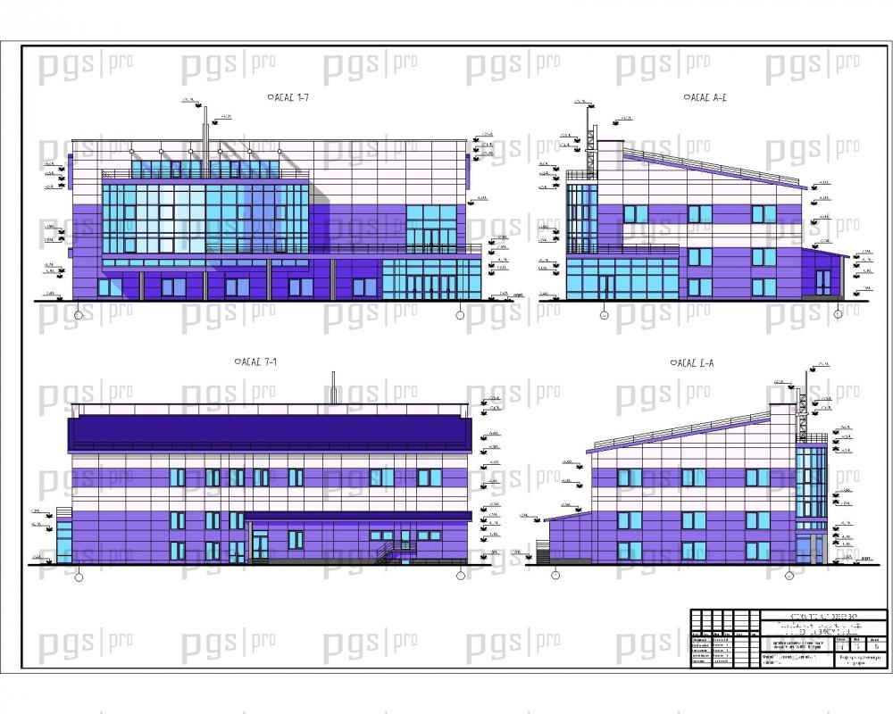 Скачать бесплатно дипломный проект ПГС Диплом № Торговый  2 Фасады jpg