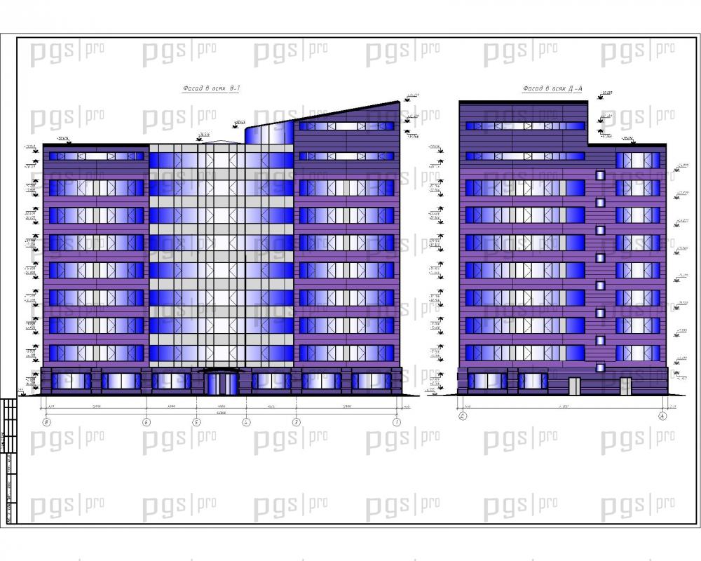 Скачать бесплатно дипломный проект ПГС Диплом №  1 Фасады jpg